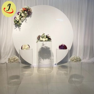 wholesale price gold wedding decoration 2m round iron wedding backdrop stage SF-BJ051