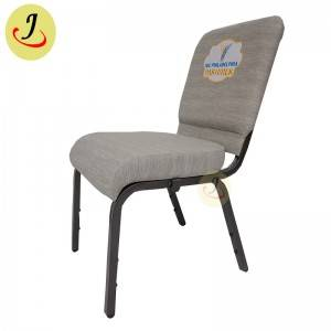 factory direct fabric Comfortable sponge armless church chair with logo SF-JC011