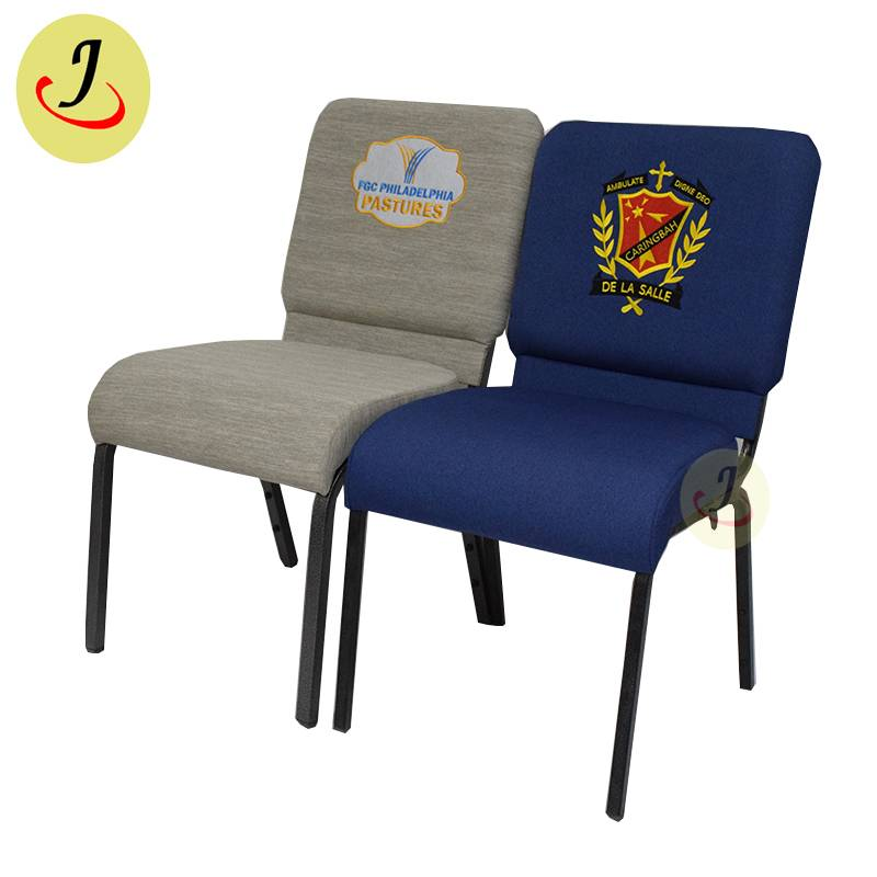 factory direct fabric Comfortable sponge armless church chair with logo SF-JC011 Featured Image