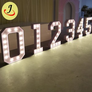 wholesale price Wedding event party White PVC Events Mosaic Numbers Letter decoration For Sale  SF-WD046