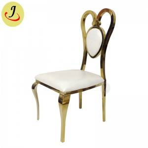 Special design golden hear shape Elegant Stainless Steel wedding Chair  SF-SS031