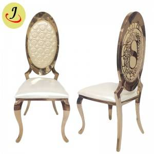 Factory supply golden high back Stainless Steel hotel wedding Chair  SF-SS028