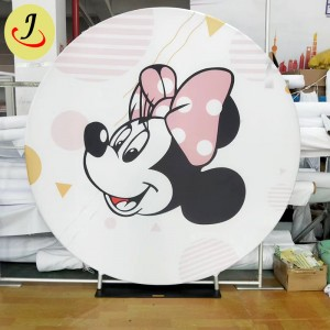 wholesale New design tension fabric round wedding backdrop decoration   SF-BJ044