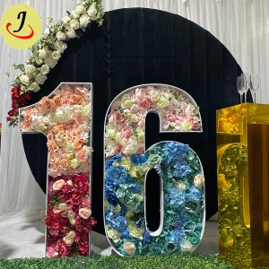 PVC Events Mosaic Numbers Letter decoration For wedding  SF-WD045
