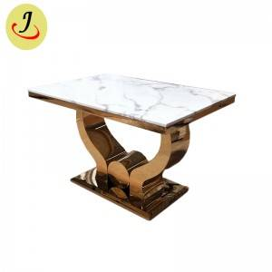 Marble table top stainless steel dining table SF-SS039