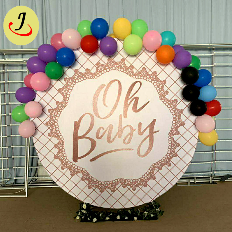 wholesale New design tension fabric round wedding backdrop decoration   SF-BJ044 Featured Image