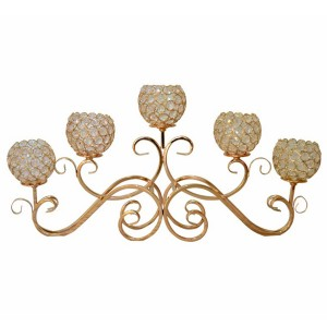 Tabel Wedding Centerpieces candelabra 5 tangan emas SF-ZT04