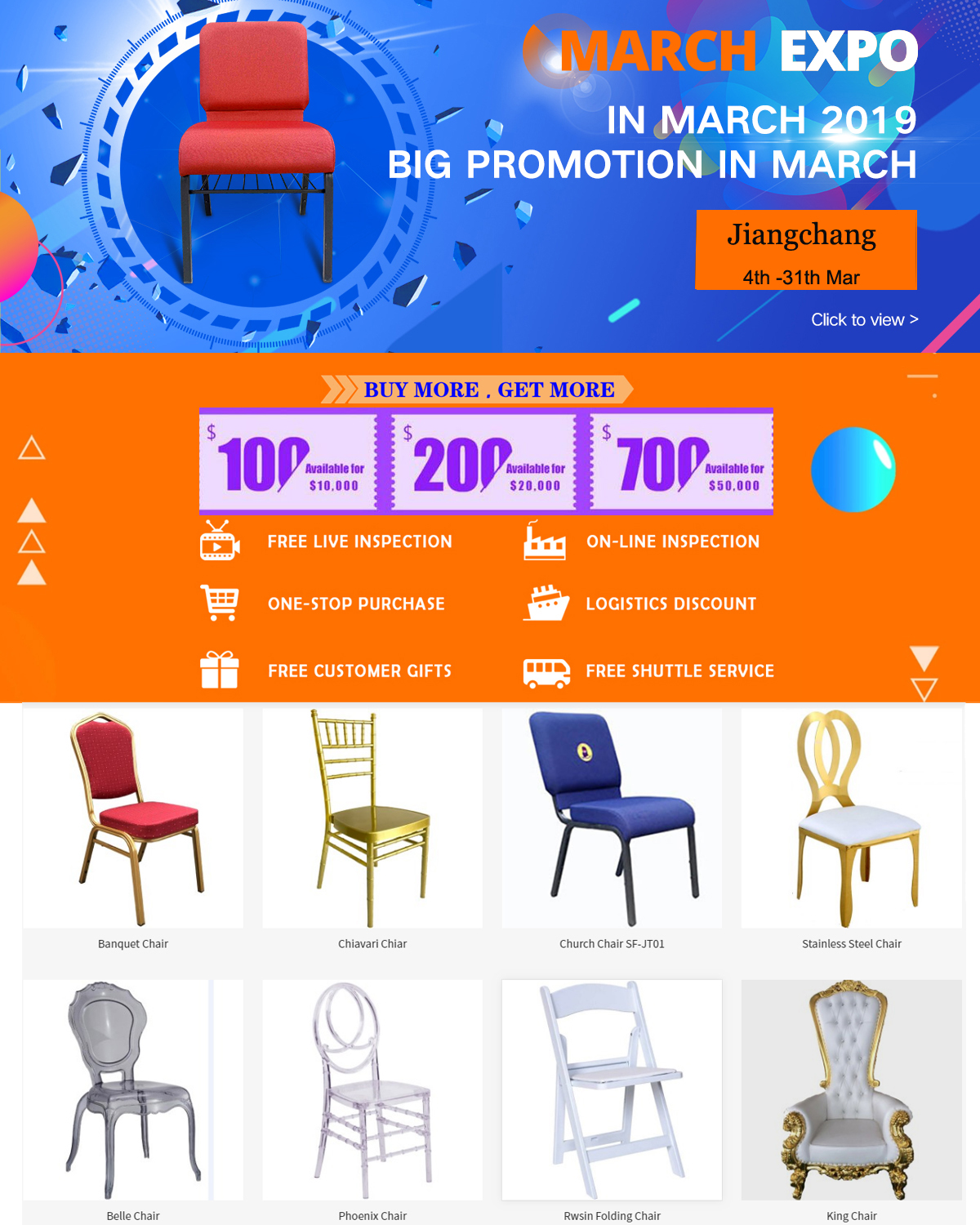 promotion from in march