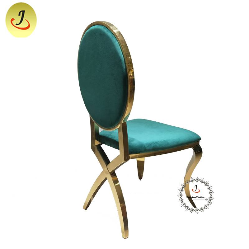 New product Modern style gold Carved back stainless steel metal dining chair   SF-SS035 Featured Image