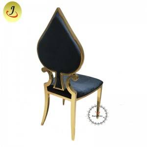 New product Modern style gold Carved back stainless steel metal dining chair   SF-SS035