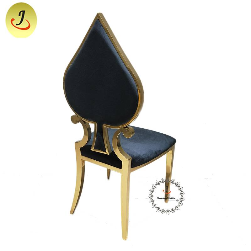 Wholesale price New product Modern style gold Carved back stainless steel metal dining chair   SF-SS036 Featured Image