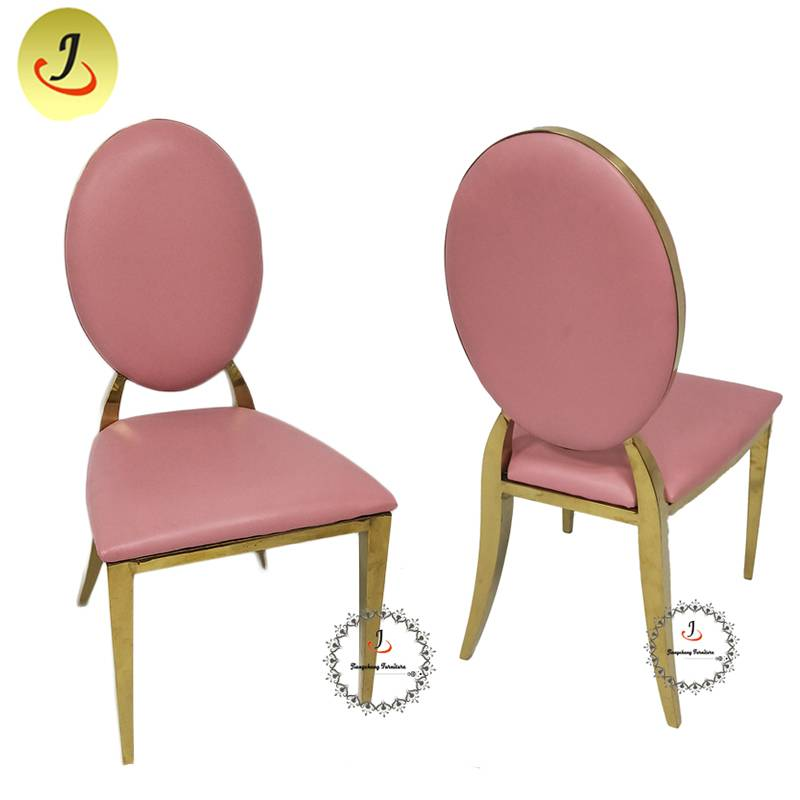 wholesale Modern  design top sale pink color Round Shape Stainless Steel Dining Chair  SF-SS034 Featured Image
