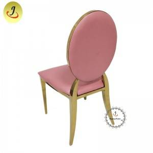 wholesale Modern  design top sale pink color Round Shape Stainless Steel Dining Chair  SF-SS034