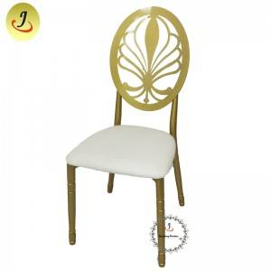 Cheap  price New product Modern style gold Carved back stainless steel metal dining chair   SF-SS040