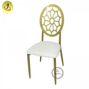 New product Modern style golden color Carved back stainless steel metal dining chair    SF-SS041