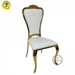The best price Modern style golden color Carved back stainless steel metal dining chair    SF-SS041