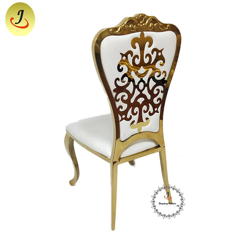 Modern Style Golden Color Carved Back