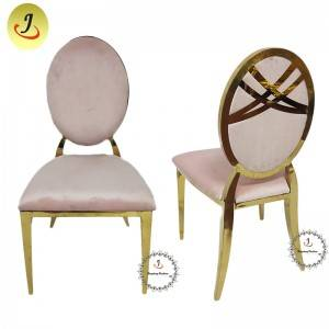 Wedding Event Gold pink color Stainless Steel Dining Chair SF-SS040