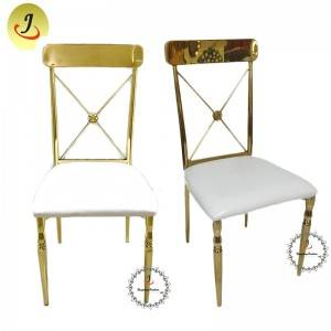 New product Wedding Event Gold Stainless Steel Luxury Dining Chair SF-SS039