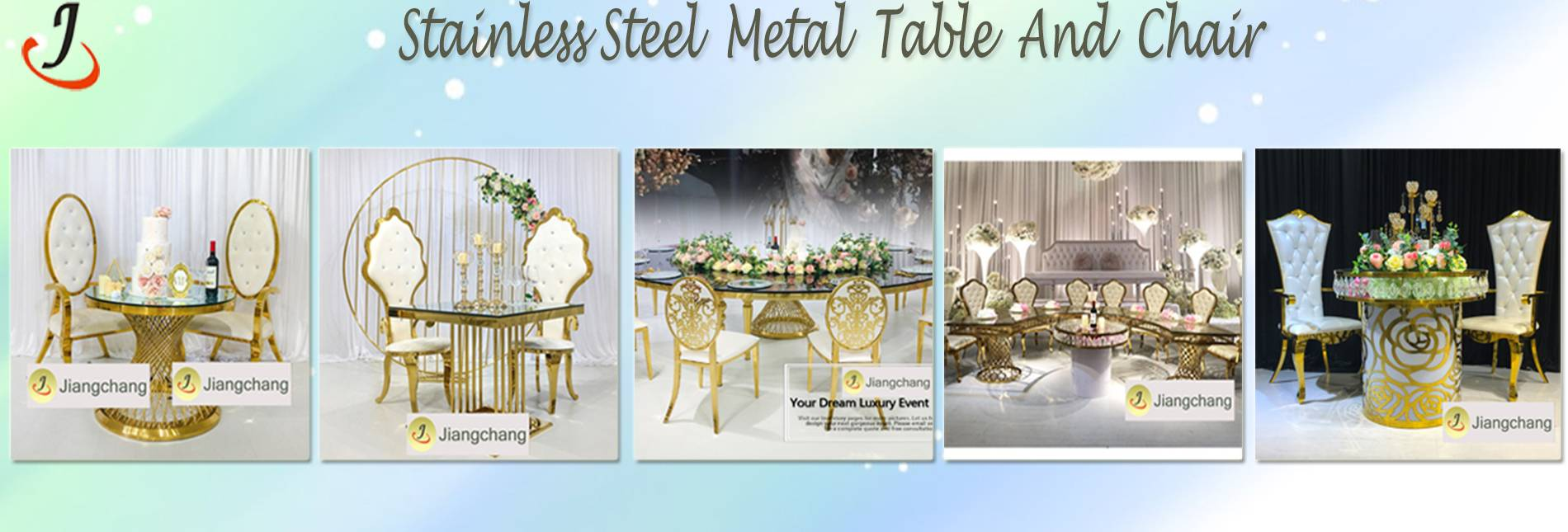 stainless metal table and chair2