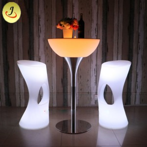 Stainless Steel Modern LED Bar Chair Cocktail Table SF-MB04