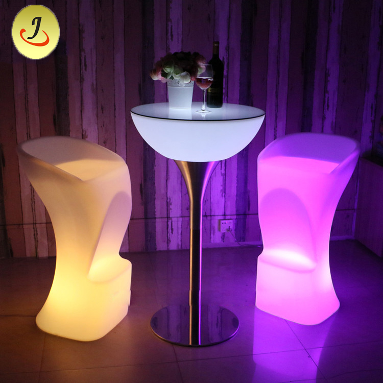 Stainless Steel Modern LED Bar Chair Cocktail Table SF-MB04 Featured Image