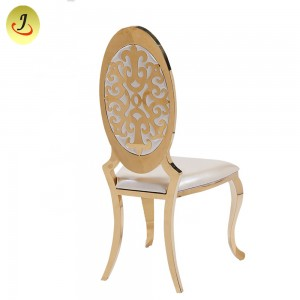 Chinese Factory Cheapstainless Steel Golden Dining Chair with Arm /Wedding Chair SF-SS022