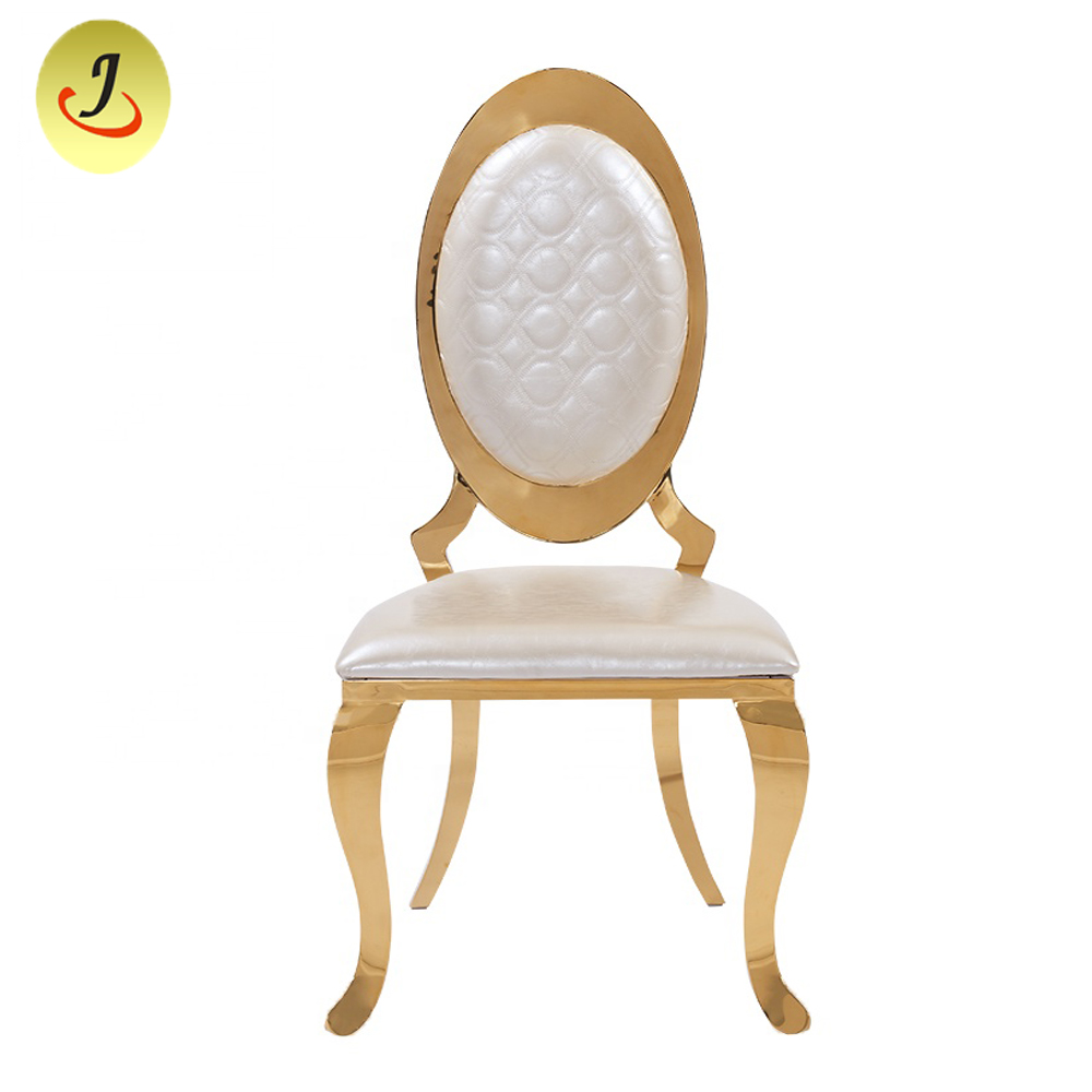 Chinese Factory Cheapstainless Steel Golden Dining Chair with Arm /Wedding Chair SF-SS022 Featured Image