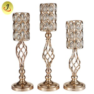 Wedding Candlestick Hanging soporte Crystal Beade Metal Flower / matrimonio decoración SF-ZT028