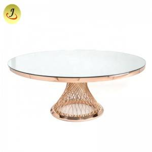 wholesale price popular stainless steel metal dining table SF-SS041