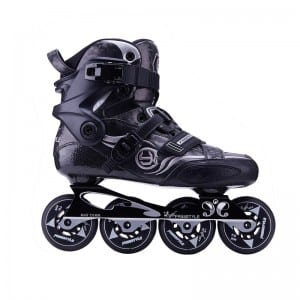 High reputation Oem Acceptable Fashion Carbon Fiber Rebound 110-120mm Pu 3 Big Wheels Speed Roller Skates Shoes