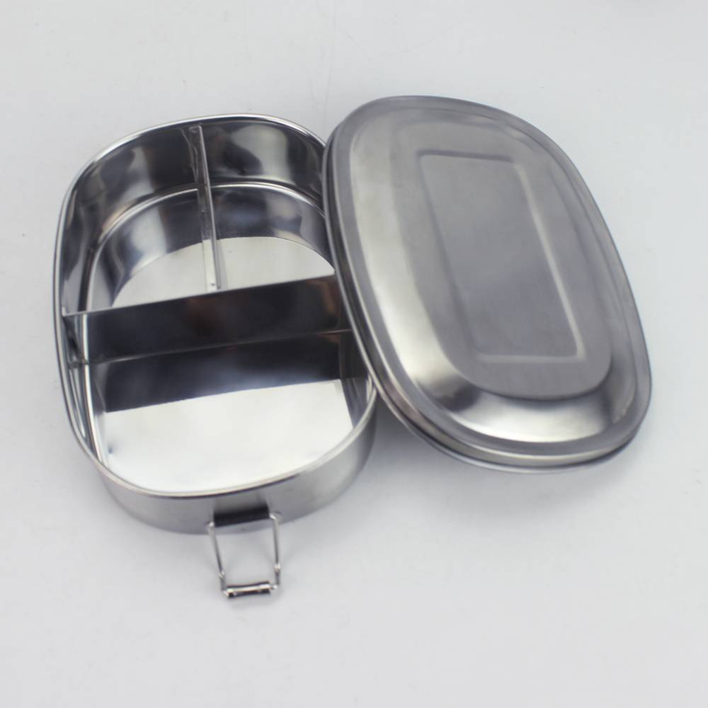 Stainless Steel Decorated Sheet Supplier - Stainless-steel oval lunch box with lock. – Swiny