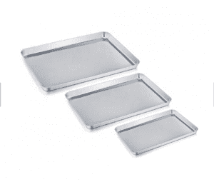 Suitable for hotel, household 304 square plate stainless steel tray rectangular plate barbecue plate steamed rice plate