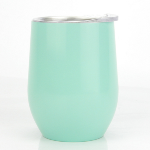 Hot selling Custom 12oz Double wall Insulated Vacuum stainless steel wine tumbler with lids.