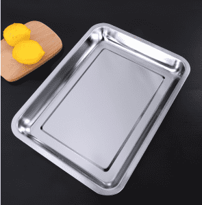 304 stainless steel plate rectangular tray/barbecue plate/commercial dinner plate/steamed rice plate/grilled fish plate household