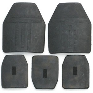 Silicon nitride ceramic bulletproof tablets