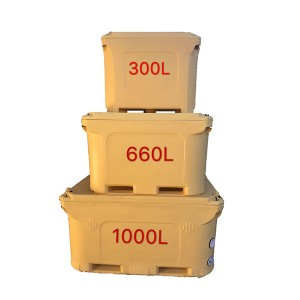 1000L Rotomolded insulated seafood beverage cold storage shipping container