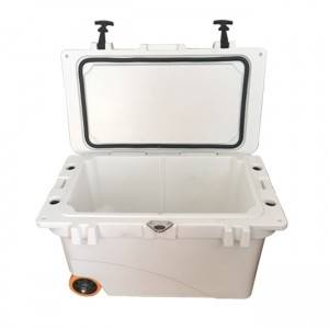 45QT Rotomolded coolers with bluetooth speaker and wheels