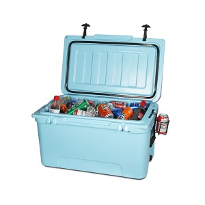 65QT Kleur Custom Professionele Jag Fishing Kampering Rotomold Ice Cooler