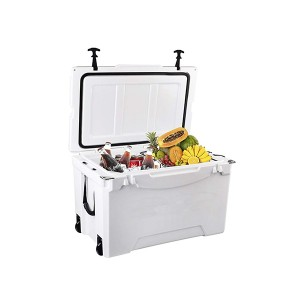 75QT rotomolded Coolers with wheels