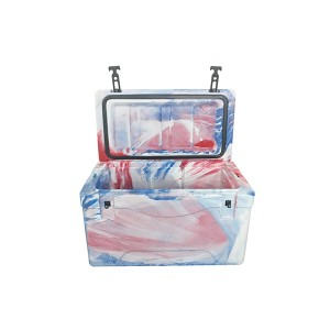 40QT ice txivhmab camo txias rotomolded box