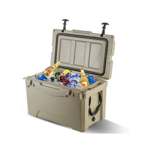 35QT portable rotomolded cooler tan color