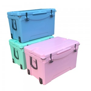 75QT wheeled roto mold coolers