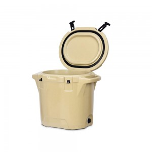 25L rotomolded Round cooler Tan color