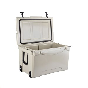 75QT Commercial Fishing Plastic Rotomolded Reusable Ice Box Coolers With Beer tīkape