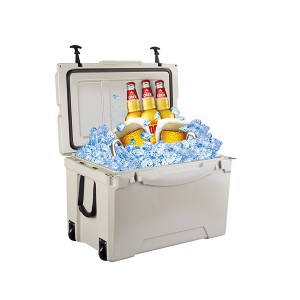 75QT Commercial Fishing Plastic Rotomolded Reusable Ice Box Coolers With Beer Opener