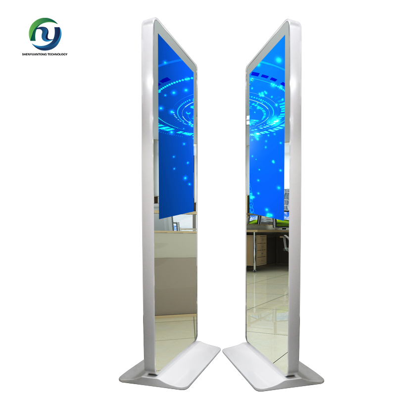 High Quality 42'' Floor Stand Indoor Application Network Lcd Mirror Ad Player For Mall
