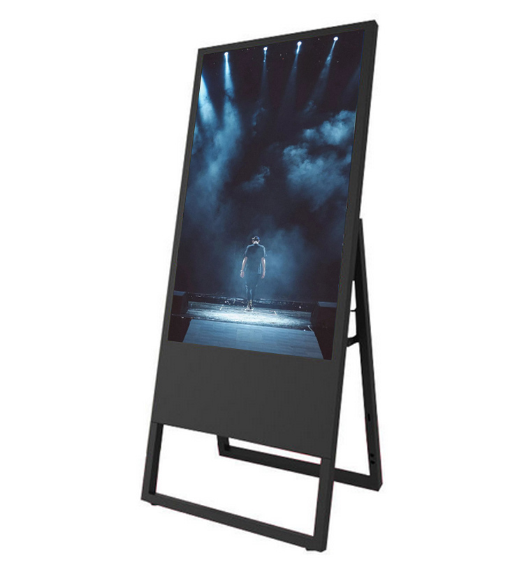 32 inch portable ultra thin lcd screen floor stand digital signage