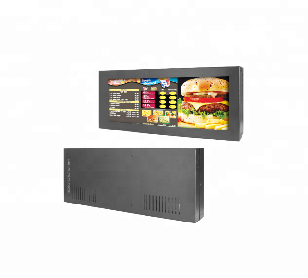 High Quality 14.9 Inch Portable Digital Stretched Bar Type LCD Display For Subway