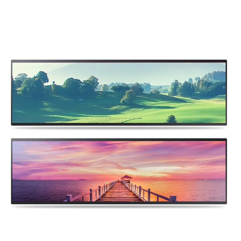 New products Stretched Bar Lcd display digital sigange with Wifi and Android OS5.1 14.9-86 inch